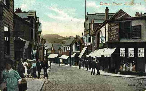 Junction of Witton Street and Leicester Street – around 1905