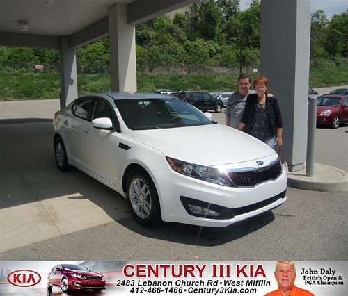 Century 3 Kia would like to say Congratulations to Richard Peter on the 2013 Kia Optima