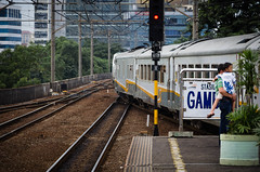 Stasiun Gambir (basvredeling) Tags: city travel holiday station train indonesia java transport jakarta rails yogyakarta gambir geocity exif:focal_length=135mm exif:iso_speed=200 exif:make=pentax camera:make=pentax geostate geocountrys exif:aperture=56 camera:model=pentaxk5 exif:model=pentaxk5 exif:lens=smcpentaxda18135mmf3556edalifdcwr