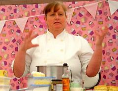 Afternoon Tea making with cook Julie Oddie (Tony Worrall Foto) Tags: show uk england food cooking make cake fun demo baking fantastic year sunday may cook 4th lancashire blackburn event chef celeb bake cooks 19th foodie lancs returned foodshow 2013 haworths nigelhaworthsfantasticfoodshow julieoddie