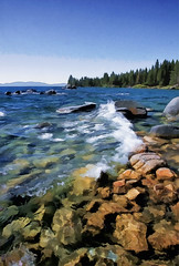 Rocky East Shore of Lake Tahoe, Nevada, USA  2012 Pat Patrick Alan Swigart, Gone to Look for America (Patrick Alan Swigart) Tags: usa lake look alan america for pat nevada tahoe rocky patrick gone east shore 2012 swigart
