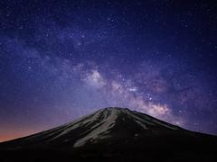 FUJI&GLAXY (Yuga Kurita) Tags: sky japan night stars landscape fuji nightscape galaxy fujisan starry fujiyama milkyway starscape 天の川 銀河 冨士山 星景