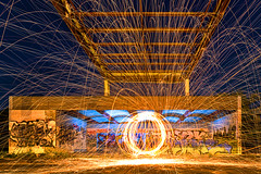 fire ball (kapuk dodds) Tags: bridge wool ball fire movement steel move grafity abandom