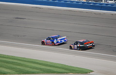 Joey Leads with Denny right behind (cjacobs53) Tags: auto california car club race 22 joey stock 11 number jacobs denny fontana speedway hamlin logano jacobsusa 2013picture