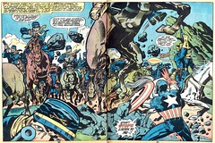 Marvel Treasury Special: Captain America's Bicentennial BattlesA by Jack Kirby (Derek Langille) Tags: art america comics jack spread dc kirby comic double captain page marvel jackkirby