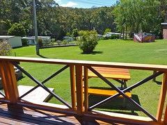 "Lorikeet Cottage rear deck view • <a style=""font-size:0.8em;"" href=""http://www.flickr.com/photos/54702353@N07/9272247107/"" target=""_blank"">View on Flickr</a>"