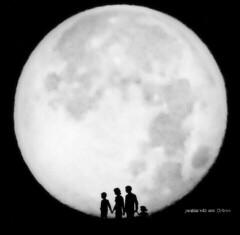 Full moon family (yusu falaa1) Tags: family bw art space egypt fullmoon casio nights capturedmoments streamzoo fortheloveofblackandwhite