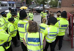 Launch of Operation Whistler (Greater Manchester Police) Tags: unitedkingdom police stockport moor operation gmp heaton britishpolice manchesterpolice ukpolice greatermanchesterpolice streetbriefing policeinstockport operationwhistler