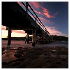 DSC02495 (zzzoz) Tags: bridge sunset beach landscape island bay coast nationalpark bare sydney australia nsw botanybay laperouse