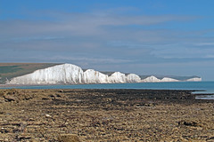 Seven sisters from Hopes Gap beach (Martin D Stitchener PiccAddo Photography) Tags: cliff lighthouse butterfly photography sussex coast photo flickr wildlife erosion beachyhead birlinggap cottages cuckmere twitter belletoute martinstitchener dxhawk
