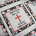 "Red Black and White Damask Religious Cross Wedding Favor Label Sticker <a style=""margin-left:10px; font-size:0.8em;"" href=""http://www.flickr.com/photos/37714476@N03/9469555760/"" target=""_blank"">@flickr</a>"