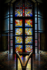 Heaven's Window   天国の窓 (francisling) Tags: art church window glass colors st zeiss 35mm t paul colorful cathedral sony australia melbourne cybershot victoria stained 窓 sonnar 色 オーストラリア ステンドグラス 教会 メルボルン ビクトリア 大聖堂 rx1 多彩な ガラス工芸 セントポール dscrx1