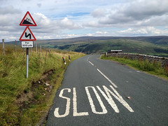 Buttertubs pass (www.AlastairHumphreys.com) Tags: road bike bicycle sign cycling slow yorkshire 25 tourdefrance microadventure granddepart tourdeyorkshire