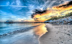 High Dynamic Range (HDR) Landscapes of the Malibu Pier Shot With Nikon D3X (45SURF Hero's Odyssey Mythology Landscapes & Godde) Tags: california county sunset portrait sun nature beauty clouds lens landscape ed photography landscapes photo los high sand nikon surf raw with shot dynamic angle zoom angeles wide wideangle malibu southern socal mp nikkor range hdr afs matix photomatix f28g d3x 1424mm lantural
