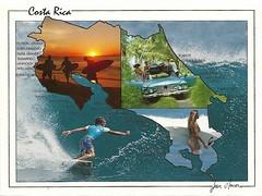 Surfing Costa Rica (tico_manudo) Tags: surfing playas costarica maps surfingcostarica surf mapcards postcards tarjetaspostalesdecostarica jeanmercier