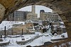 Mill Ruins (CGinMN) Tags: winter snow minnesota downtown cityscape waterfront minneapolis msp mississippiriver stonearchbridge millcityruins