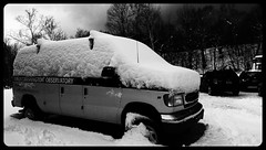Snow on the van (rightthewrong) Tags: auto road new white snow mountains washington december mt nine 9 peak nh hampshire fresh presidential dec mount observatory summit van range base depth inches obs mwo presidentials 2013