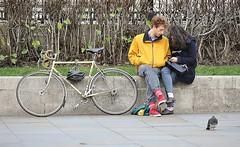 Love Is . . .Needing A Tandem [Explored #388] (jaykay72) Tags: street uk london candid streetphotography trafalgarsquare londonist stphotographia