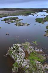 Ro Ayuela, llanos de Cceres (Vctor C.M.) Tags: water rio clouds river landscape agua rocks stones paisaje nubes hitech rocas piedras filtros degradados neutros
