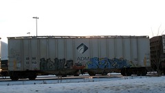 IMG_9993 (Youra Dick) Tags: winter minnesota train graffiti adm minneapolis sp boxcar freight mwcx