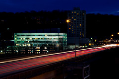Week 4: Fast (Mike Seigafuse) Tags: bridge cars fast lighttrails conshohocken projectflickr