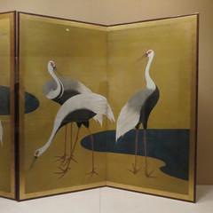 Cranes by Suzuki Kiitsu (Japanese, 1796–1858) (peterjr1961) Tags: nyc newyorkcity newyork japan japanese blurred japaneseculture themet metropolitanmuseumofart infocus mediumquality