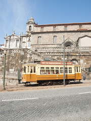 Old Porto tram car (Carlos Ciudad - Stock Photography) Tags: travel tourism portugal church colors car vertical museum easter holidays europa europe monumento iglesia tram nobody olympus colores tourists viajes porto museo turismo vacaciones oporto semanasanta gettyimages turistas tranvia nadie e520 cctrillastock