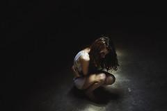 Inner spaces (Alessio Albi) Tags: light portrait woman art dark model mood emotion atmosphere sorrow vision:outdoor=0942 vision:dark=0889