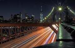 Brooklyn Bridge - Nighttime (Joe Marcone (3 Million+ Views)) Tags: brooklynbridge freedomtower night elitephotography greatphotographers greaterphotographers greatestphotographers ultimatephotographers sungodphotographer nikonflickraward extraordinarilyimpressive gününeniyisi thebestofday 6000v240f longexposure lighttrails brooklyn nikon nikond3200