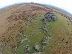 Saddle Tor and Haytor Rocks, Dartmoor (Marklucylockett) Tags: 2 devon hero april kap tor dartmoor saddle kiteaerialphotography 2014 dartmoornationalpark gopro saddletor haytorrocks hero2 marklucylockett