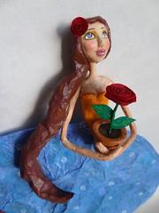 Meu Jardim III - My Garden III (Carla Scheffer) Tags: artdoll papiermache papermache flowervase papelmache vasodeflor papermachedoll mixedmediaartdoll bonecapapelmache