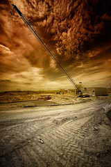 As Ye Sow (hunter20ga) Tags: wild storm weather clouds nikon crane apocalypse stormy northdakota prairie bismarck worksite buildingsite d4 heavenandearth wildclouds 1424f28 northerngreatplains rrsbh40lr industrializationofnorthdakota