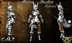 Rogue Duelist  White Kemono (EC-Eleran's Craft) Tags: female outfit mesh crafts fantasy secondlife armor sword warrior blade rogue zbrush duelist ecelerans