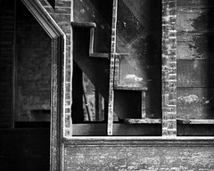 Exposed (ariel is . . .) Tags: ruralnorthcarolina nc oldhouse staircase stairs crosssection steps woodwork details 1830s early19thcentury bw notuptocode northcarolina