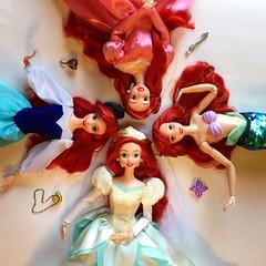 Shades of Ariel (Richard Zimmons) Tags: ariel little mermaid doll barbie disney store wedding bride 1997 vintage kingdom tour pink dinner princess