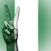Peace Symbol with National Flag of Nigeria