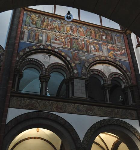 Eglise romane St Sèverin (XIIe-XIIIe), Marktplatz, Boppard, Landkreis Rhein-Hunsrück, Rhénanie-Palatinat, Allemagne.