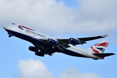 G-CIVG | B744 | EGLL | 24-02-2017 (t1mdean) Tags: boeing b744 b747 jumbo speedbird britishairways gcivg londonheathrow lhr egll 27l airliner