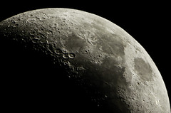 Lunar Landscape (BlackRockBacon) Tags: arizona moon photoshop pentax tucson craters adobe lunar k5 lightroom