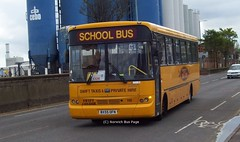 Swift Taxis 110 BX55OFN (Joe (Norwich Bus Page)) Tags: school bus 110 taxis swift fe bmc 1100 nbp bx55ofn norwichbuspage