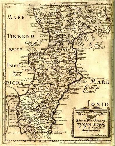 Calabria Ulterioris - Commissione dal principe Thomae Ruffo
