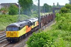 56302 & 66850 6C37 (DM47744) Tags: west grid coast log north rail mainline class66 colas class56 56302 66850