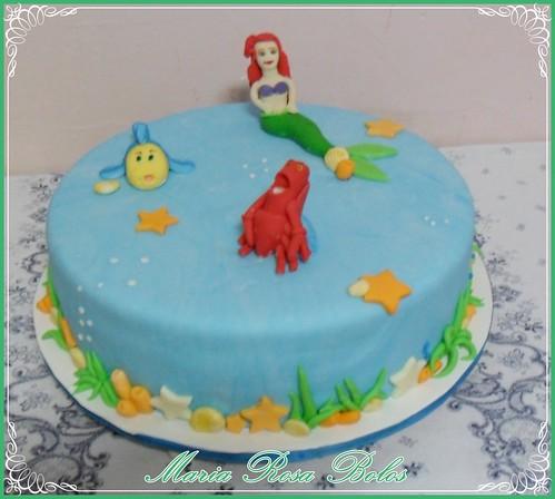 bolo pequena sereia 3