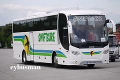 Swiftsure Burton on Trent  YS62EHR. (EYBusman) Tags: road park travel bus coach yorkshire east trent independent staffordshire burton scania bridlington swiftsure hilderthorpe omniexpress eybusman ys62ehr