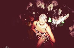 HANS HARLING RIO COSTUME HALLOWEEN  (2) (HANS HARLING) Tags: costumes white club night neon venus handmade hans spotted mad beirut vania harling