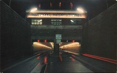 Harbor Tunnel, Baltimore, Maryland (SwellMap) Tags: auto road car train vintage subway advertising design pc 60s highway triangle automobile fifties dam postcard perspective style rail tunnel retro machinery nostalgia chrome repetition americana 50s unusual roadside tunnels sixties 30s coldwar 40s roadway midcentury atomicage