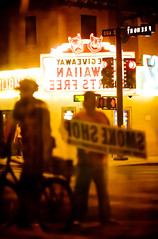 Smoke Shop (Thomas Hawk) Tags: vegas usa reflection bike bicycle america neon unitedstates lasvegas nevada unitedstatesofamerica fremontstreet common fse elcortez fremontstreetexperience downtownlasvegas clarkcounty elcortezhotel dmuvegasmeetup2008