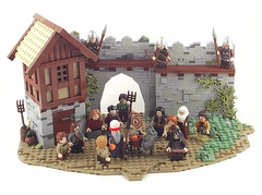 The legend of St.Nicolas (pif500) Tags: city house castle st wall lego contest donkey medieval event nicolas soldiers legend lorraine moc 2013 l13 pif500