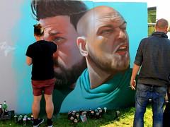 2013 Upfest Bristol - Graffiti Artist Telmo Miel - Artist at Work (Andy_Hartley) Tags: england urban streetart art bristol graffiti mural graf wallart spray urbanart aerosol graffitiartist spraycan graffitiart artistatwork upfest 2013 urbanpaintfestival mygearandme telmomiel
