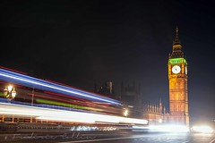 London - Big Ben Tower at night with bus light trails (lathuy) Tags: uk greatbritain bridge england house bus london tower westminster thames night canon underground big tour ben unitedkingdom dusk cab taxi tube parliament londres pont angleterre 5d ru nuit lumineux traits royaumeuni grandebretagne 24105mm trainées embankement impériale lumineuses